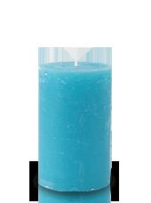 Bougie rustique Turquoise 11x7cm