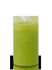 Bougie rustique Vert Citron 11x7cm