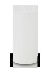 Bougie rustique Blanche 14x7cm