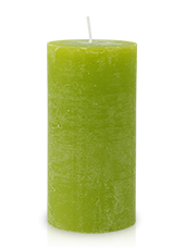 Bougie rustique Vert Citron 14x7cm