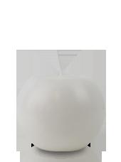 Bougie ronde marbrée Blanche 8cm