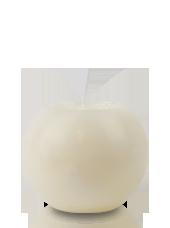 Bougie ronde marbrée Ivoire 8cm