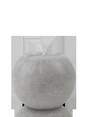 Bougie ronde marbrée Gris 8cm
