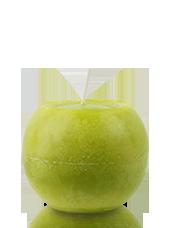Bougie ronde marbrée Vert Citron 8cm