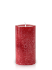 Bougie marbrée Rouge 13x7cm