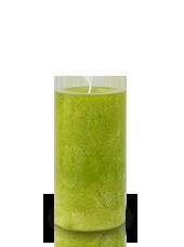 Bougie marbrée Vert Citron 13x7cm