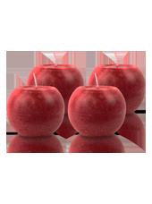 Pack de 4 Bougies Rondes Marbrées Rouge 8cm