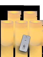 Pack Pilier LED standard ivoire 7x15cm avec Télécommande