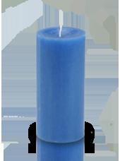 Bougie cylindre premium Bleu roi 7x15cm