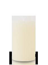 Bougie rustique Ivoire 11x7cm