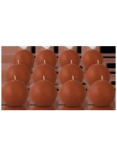 Pack de 12 bougies ronde Caramel 7cm