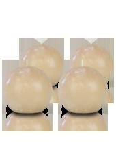 Pack de 4 bougies ronde premium Poudre 8cm