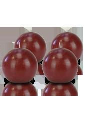 Pack de 4 bougies ronde premium Rouge carmin 8cm