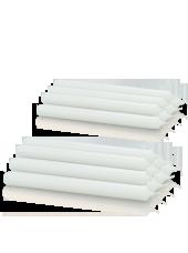 Pack de 16 chandelles premium Blanche 2,2x25cm