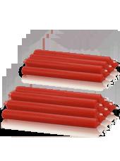 Pack de 16 chandelles premium Rouge 2,2x25cm