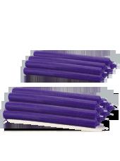 Pack de 16 chandelles premium Violet aubergine 2,2x25cm