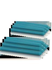 Pack de 16 chandelles premium Bleu turquoise 2,2x25cm
