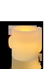 Bougie pilier LED Ivoire 7x7,5cm