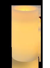 Bougie pilier LED Ivoire 7x15cm