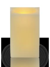 Bougie carrée LED Ivoire 6x6x10cm