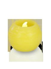 Bougie ronde LED Jaune 6x5cm