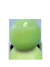 Bougie ronde LED Vert 6x5cm