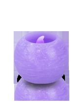 Bougie ronde LED Violet 6x5cm