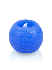 Bougie ronde LED Bleu 6x5cm