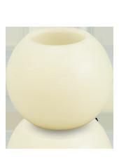 Bougie ronde LED Ivoire 12x10cm
