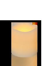 Bougie pilier LED Vagues Ivoire 7,5x7,5cm