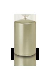 Bougie pilier métallisée Perle 5x8cm