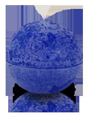Bougie ronde rustique Bleu roi 8cm