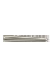 Bougie chandelle métallisée Argent 2,5x25cm