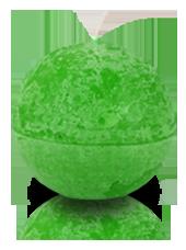 Bougie ronde rustique Vert pistache 8cm