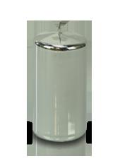 Bougie pilier laquée Argent 7x12cm
