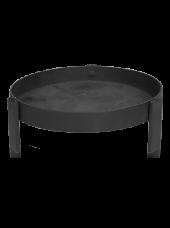 Support rond pour bougie XL noir 5x15cm