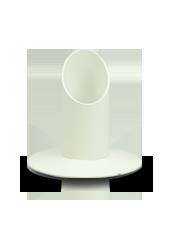 Bougeoir Blanc pour chandelles 3cm