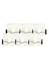 Pack de 6 Chauffe-plat Etoile Blanche