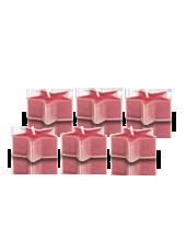 Pack de 6 Chauffe-plat Etoile Rouge