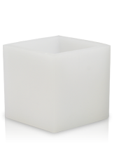 Photophore carré d'extérieur hurricane Blanc 20x15,5cm