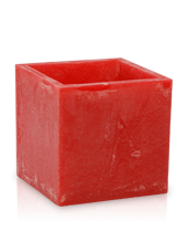Photophore carré d'extérieur hurricane Rouge 20x15,5cm