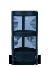 Support carré pour bougie XL noir 15x31.5cm