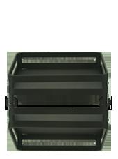 Support carré pour bougie XL noir 16x5,6cm