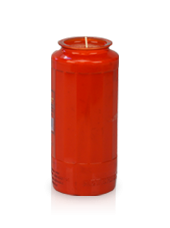 Bougie neuvaine rouge 6,5x15cm