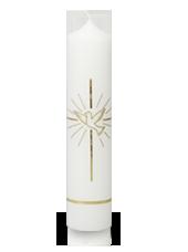 Bougie de baptême colombe Or 6x26,5cm