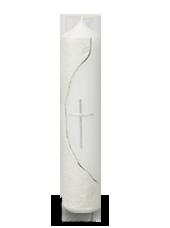 Bougie de communion croix Argent 6x26,5cm