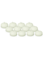 Pack de 12 Bougies flottantes Blanches 5cm