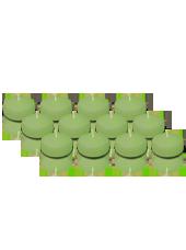 Pack de 12 Bougies flottantes Vert 5cm