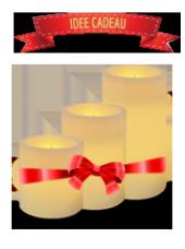Pack de 3 bougies LED finition plate