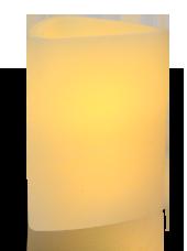 Triangle LED Ivoire Rustique 7,5x15cm